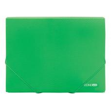 Папка-бокс E на гумках 40 мм зелена
