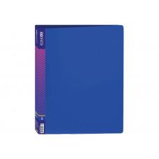 Папка 4 кільця E А4 з карман 700мкм синя