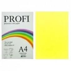 PROFI color папір офіс  A4 160г/м 250арк пастельн жовт Light Yellow