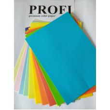 PROFI color папір офіс  A4 .160г/м 100арк 5кол Пастель МІКС