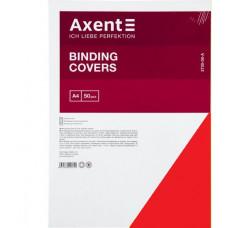 """Обкладинка картонна """"під шкіру"""" А4 250г/м2, Axent, червона (50 шт)"""