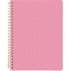 Блокнот А5  80арк. спіраль бічна Scale лінія кремов блок, рожевий
