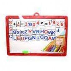 Дошка магнітна 207*308мм Двухстороння + Букви англійськи + цифри + маркер