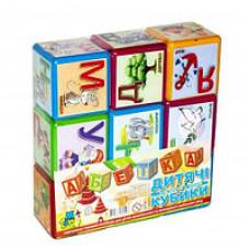 Кубики в наборі  українська абетка (пластик)