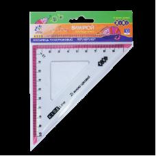Косинець 20 см (45*90*45град) пластик прозорий