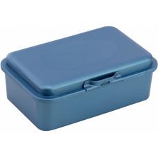 Ланч-бокс (контейнер для їжі) ECONOMIX SNACK 750 мл, синій металік