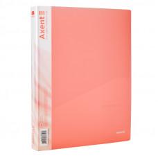 Папка 4 кільця Axent А4 з карман 700мкм прозора рожева