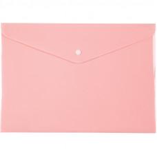Папка на кнопці Axent А4, Pastelini, рожева