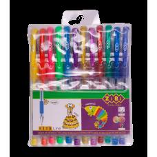 Набір ручок гелевих ZiBi Neon+Glitter 12 кольорів