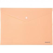 Папка на кнопці Axent А4, Pastelini, персикова