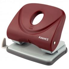 Діркопробивач  30 арк Axent Welle-2 з пласт. верхом, червоний