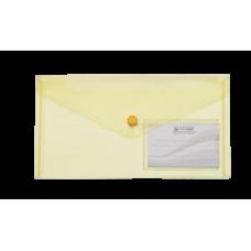 Конверт на кнопці ВМ DL TRAVEL (240x130мм) , з карманом для візитки, жовта