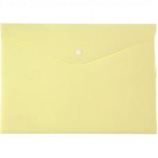 Папка на кнопці Axent А4, Pastelini, жовта