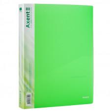 Папка 4 кільця Axent А4 з карман 700мкм прозора зелена
