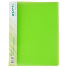 Папка швидкозшивач  Axent з карм 700мкм прозора зелена