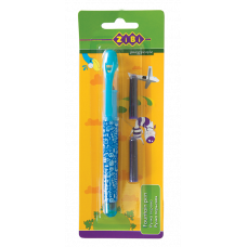 Ручка-перо+2 капсули, блакитн. корпус