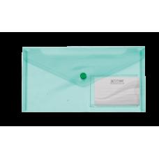 Конверт на кнопці ВМ DL TRAVEL  (240x130мм) , з карманом для візитки, зелена