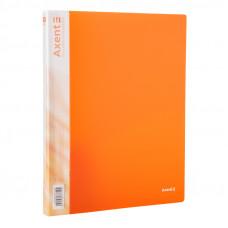 Папка 2 кільця Axent А4 з карман 700мкм прозора помаранчева