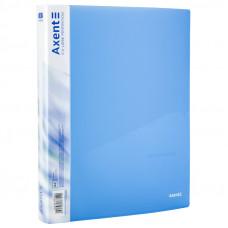 Папка 4 кільця Axent А4 з карман 700мкм прозора синя