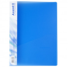 Папка швидкозшивач  Axent з карм 700мкм прозора синя