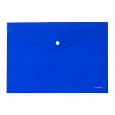Папка на кнопці Axent А4, непрозора , синя