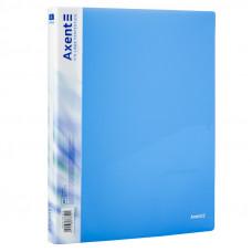 Папка 2 кільця Axent А4 з карман 700мкм прозора синя