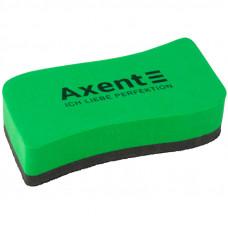 Губка для сухостир. дошок магнітна Axent Wave зелена