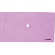 Конверт на кнопці Axent DL Pastelini, бузкова