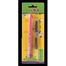 Ручка-перо+2 капсули, рожев корп.