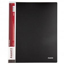 Папка 4 кільця Axent А4 з карман 700мкм чорна