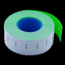 Цінник 22*12мм (1000шт, 12м), прямокутний, внутрішня намотка, зеленый