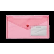 Конверт на кнопці ВМ DL TRAVEL (240x130мм) , з карманом для візитки, червона