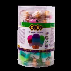 Гумка ZiBi прямокутна ice cream 26*57*13мм 1/40