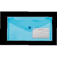 Конверт на кнопці ВМ DL TRAVEL  (240x130мм) , з карманом для візитки, синя