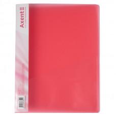 Папка швидкозшивач  Axent з карм 700мкм прозора червона