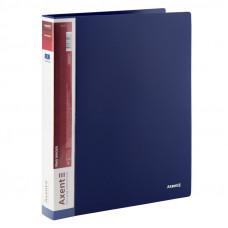 Папка 4 кільця Axent А4 з карман 700мкм синя