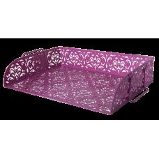 """Лоток для паперів 320x250x7мм """"Barocco"""" металевий рожев"""