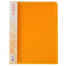 Папка швидкозшивач  Axent з карм 700мкм прозора помаранчева