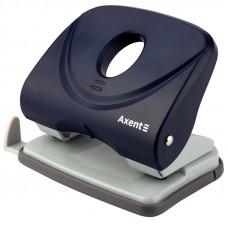 Діркопробивач  30 арк Axent Welle-2 з пласт. верхом, синій