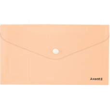 Конверт на кнопці Axent DL Pastelini, персикова