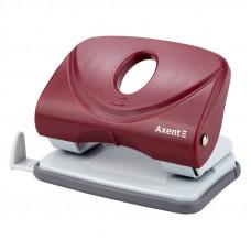 Діркопробивач  20 арк Axent Welle-2 з пласт. верхом, червоний